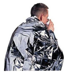 Disposable heat retaining adult foil blanket from ARASCA MEDICAL EQUIPMENT TRADING LLC