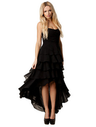 Sexy Solid Ruffles Asymmetrical Strapless  from FINECO GENERAL TRADING LLC UAE