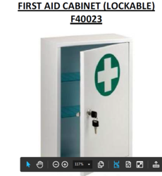 First aid cabinet, lockable metal from ARASCA MEDICAL EQUIPMENT TRADING LLC