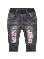 Boys Elastic Waistband Ripped Jeans  from FINECO GENERAL TRADING LLC UAE