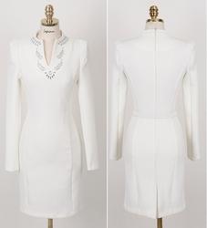 Beading diamond dress with belt from FINECO GENERAL TRADING LLC UAE