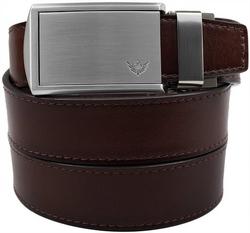 SlideBelts Men's Winged Silver Leather