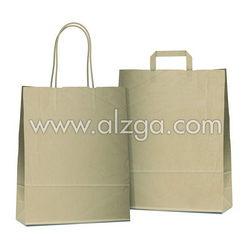 Brown color craft bag available with printing