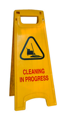 Cleaning Progress Sign Broad