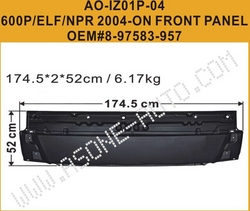 ISUZU 600P/ELF/NPR 2004 Metal Front Panel   from YANGZHOU ASONE IMPORT&EXPORT CO.,LTD.