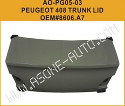 AsOne Trunk Lid For Peugeot 408 OEM=8606.A7 from YANGZHOU ASONE IMPORT&EXPORT CO.,LTD.