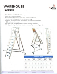 Warehouse Ladder from ADEX  PHIJU@ADEXUAE.COM/ SALES@ADEXUAE.COM/0558763747/0564083305