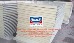African ISO &CE prefab color steel Rock wool sandw from DANA GROUP UAE-OMAN-SAUDI