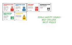 Site Safety signs stickers Supplier In Sharjah from IDEA SAFETY SIGNS