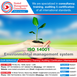 ISO 14001 Consultancy In Dubai from NESTED MANAGEMENT CONSULTANTS