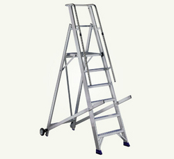 Rolling Warehouse Aluminium Ladder In Dubai from AL BAWADI