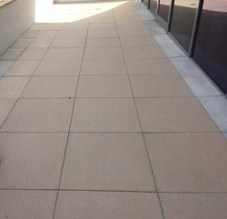 Shot Blasted Tiles (Square Pavers) Supply & Fixing from DUCON BUILDING MATERIALS LLC
