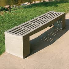Perforated Precast Concrete Bench in UAE