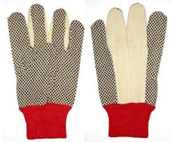 Safety Dotted Gloves Red Cuff from CLEAR WAY BUILDING MATERIALS TRADING
