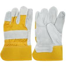 Leather Gloves Green & Yellow from CLEAR WAY BUILDING MATERIALS TRADING