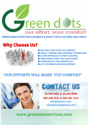 PEST CONTROL SERVICES from GREEN DOTS SERVICES L.L.C