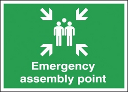 SIGNAGE ASSEMBLY POINT from GULF SAFETY EQUIPS TRADING LLC