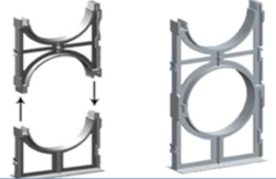 Duct Spacer ( Pipe Spacer) from CLEAR WAY BUILDING MATERIALS TRADING