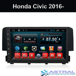 Honda Civic 2016 Android Car DVD Player Supplier from ASTRAL ELECTRONICS TECHNOLOGY CO.,LTD