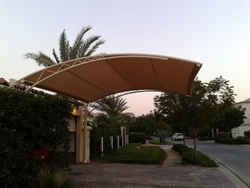 Car Parking Shades Companies in UAE from BAIT AL MALAKI TENTS AND SHADES +971522124675