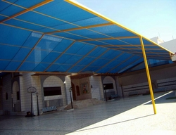 Fiberglass Car Parking Shades in UAE from BAIT AL MALAKI TENTS AND SHADES +971522124675