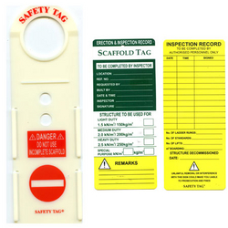 Scaffolding Tag from CLEAR WAY BUILDING MATERIALS TRADING