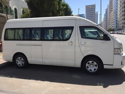 Toyota hiace 14 Seats Minibuses hire Dubai from ALI PASSENGERS TRANSPORT BUSES RENTAL DUBAI