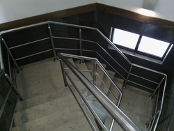 Stainless steel Handrails with pipes from EURO RUBBER AND STEEL