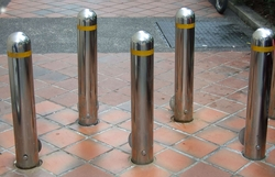 SS BOLLARDS and BARRIER from EURO STEEL AND ALUMINIUM LLC