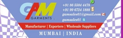Garments Manufacturers & Exporters from SCQI CREATION