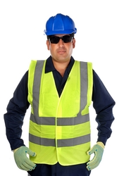 REFLECTIVE FABRIC VEST IN UAE from SOUVENIR BUILDING MATERIALS LLC