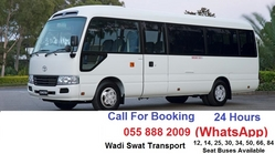 30 SEATS COASTER FOR RENT from WADI SWAT PASSENGERS BUSES TRANSPORT