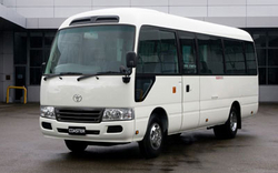 30 SEAT COASTER FOR RENT IN AJMAN from WADI SWAT PASSENGERS