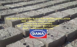 Concrete blocks with Fencing sheets for boundaries from DANA GROUP UAE-OMAN-SAUDI