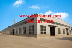 Steel warehouse, steel shed, steel structure from THE IRON ART