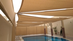 Swimming Pool Sunshade in UAE from ECO SENSE GENERAL CONTRACTING