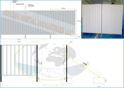 GI Corrugated Fence  UAE from GHOSH METAL INDUSTRIES LLC