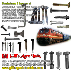 Railway Fasteners & Parts Forgings from GILLS AGRO INDUSTRIES