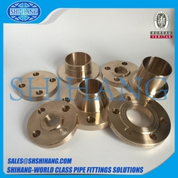 copper nickel weld neck flange from SHANGHAI SHIHANG COPPER NICKEL PIPE FITTING CO., LTD.