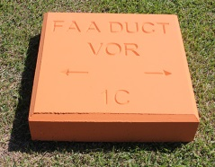 Concrete duct marker supplier in Kuwait from ALCON CONCRETE PRODUCTS FACTORY LLC