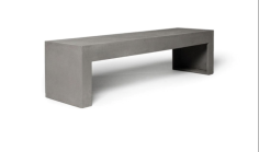 Concrete bench supplier in Qatar from ALCON CONCRETE PRODUCTS FACTORY LLC