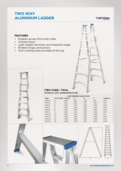 Two Way Aluminium Ladder from AL BAWADI METAL INDUSTRIES LLC