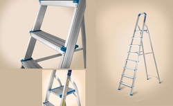 Platform Step Aluminium Ladder from AL BAWADI METAL INDUSTRIES LLC