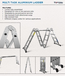Multi Task Aluminium Ladder Suppliers from AL BAWADI METAL INDUSTRIES LLC