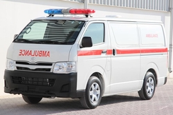 Toyota Hiace Standard Roof Ambulance from DAZZLE UAE