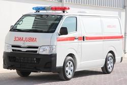 Toyota Hiace Standard Roof Ambulance from DAZZLE UAE