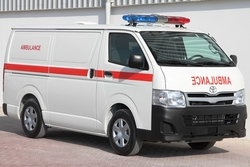 Totota Hiace Standard  Roof Ambulance  from DAZZLE UAE