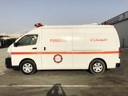 Toyota Hiace High roof Mortuary Ambulance from DAZZLE UAE