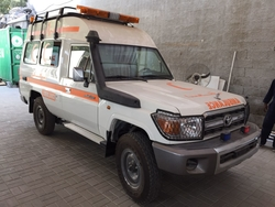 Toyota Land Cruiser Hardtop GRJ 78 High Roof Ambulance  from DAZZLE UAE