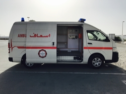Toyota Hiace High Roof Ambulance from DAZZLE UAE